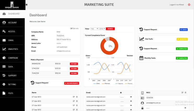 Marketing Suite Screen 01