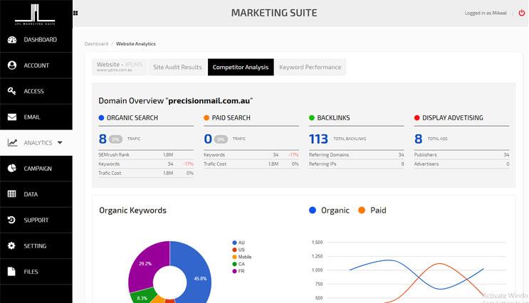Marketing Suite Screen 02