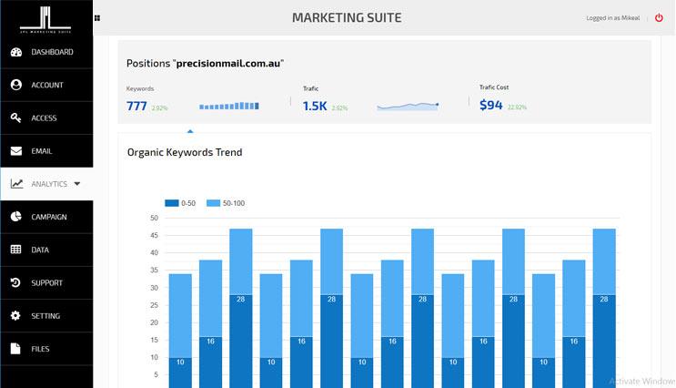 Marketing Suite Screen 03