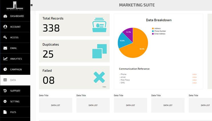 Marketing Suite Screen 04